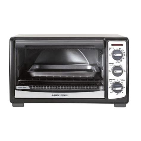 Black And Decker Convection Countertop Oven by Black Decker 4 Slice Convection Toaster Oven Tro4075b