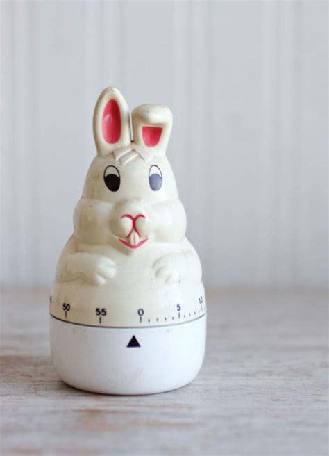 Rabbit Kitchen Timer bunny rabbit kitchen timer vintage wind up timer kitsch