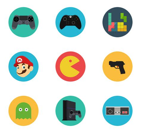 video layout icons 49 video games icon packs vector icon packs svg psd