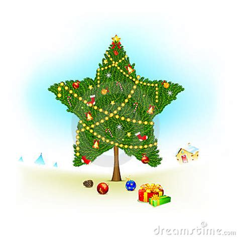 start shape christmas tree royalty free stock images