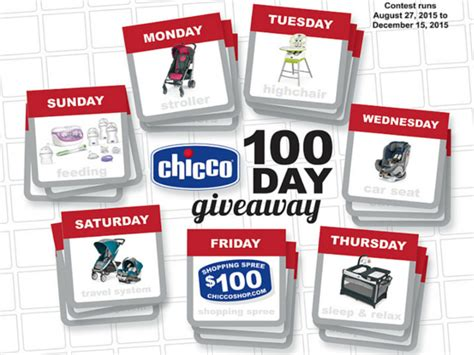 Chicco Giveaway - free chicco 100 day giveaway blissxo com