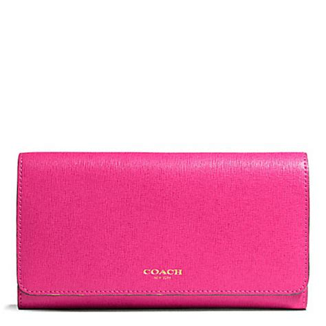 light pink coach wallet 99 saffiano leather checkbook wallet f50155 light