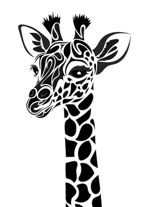 giraffe tribal tattoo 25 best ideas about giraffe silhouette on