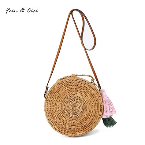 Bali Bag straw bags circle rattan bag tassel bag small