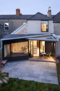 Backyard Roofed Patio Victorian Terraced House Rear Extension And Renovation
