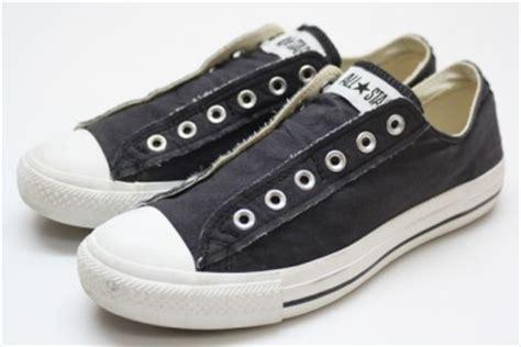 converse sneakers no laces converse chuck all black distressed no laces