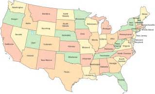 the continental united states map contiguous united states color outline map