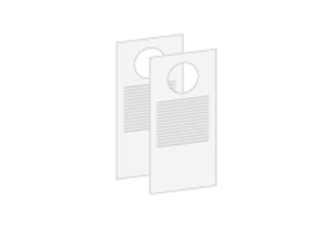 Free Downloadable Door Hanger Printing Templates Available At Psprint Small Door Hanger Template