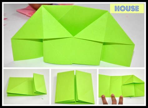 Paper Folding House - origami house found here info