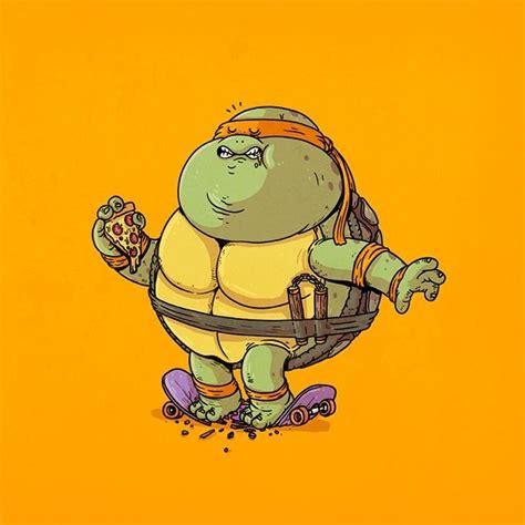 Pop Nosh Leonardo Set To Be A by Mutant Turtles All Pizza Diet Geektyrant