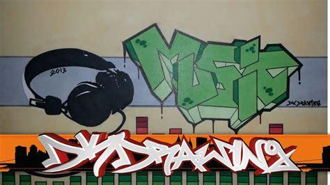graffiti letters drawing  headphones youtube
