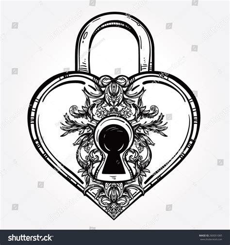 key heart isolated vector illustration heart stock vector
