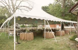 backyard wedding tent real wedding dave s sweet backyard wedding