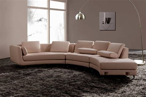 rounded couch modern round leather sectional sofa a94 leather sectionals