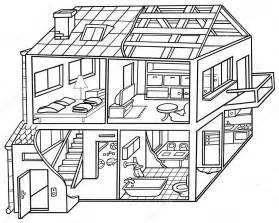 Galerry cartoon house coloring pages
