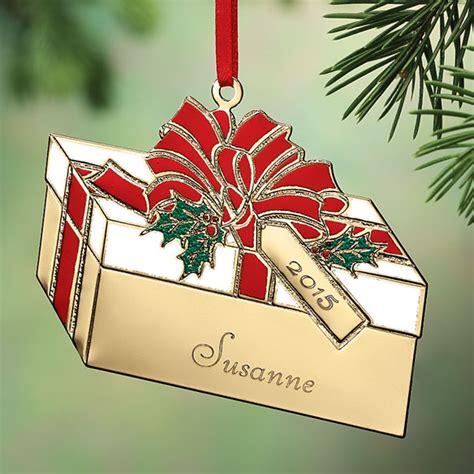 custom brass christmas ornaments present ornaments