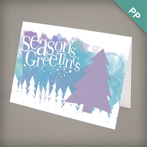 Corporate Greeting Cards - season s greetings plantable personalized card