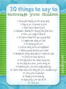 20 things to say to encourage your children pictures