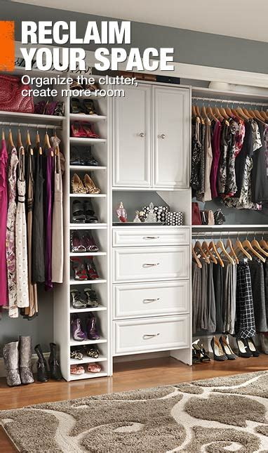 Homedepot Closet Organizers by Storage Organization Shelving At The Home Depot