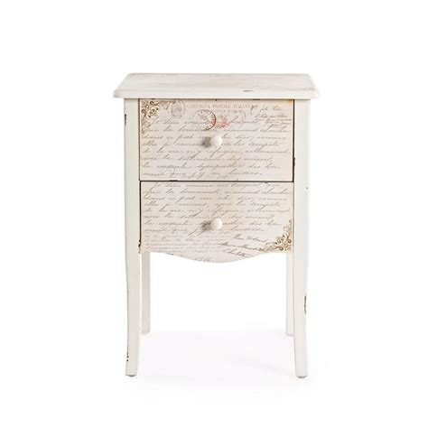 comodini shabby shakespeare side comodino shabby chic in legno con due