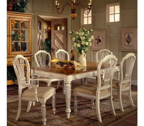 Country Dining Room Table Country Dining Set Country Cottage Style Includes Table Chairs With Antique Painted