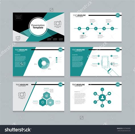 Powerpoint Templates Media Card by Abstract Vector Business Presentation Template Slides