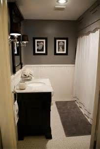 future bathroom updates hex tile wainscoting marble vanity gray paint i like the grey and