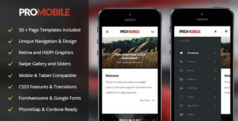 download free pro mobile mobile template