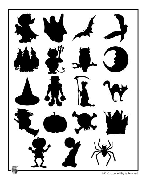 Printable Halloween Shapes | printable halloween templates woo jr kids activities