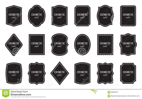 set of product label templates different shapes stock