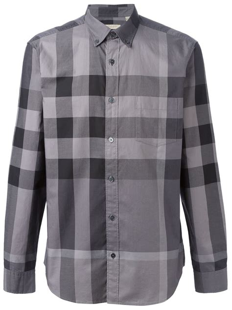 burberry brit fred shirt in gray for grey lyst