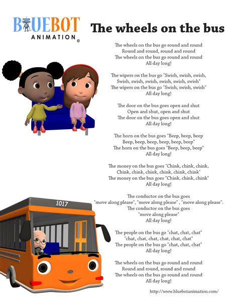 boat song lyrics in english wheels on the bus nursery rhyme lyrics free printable