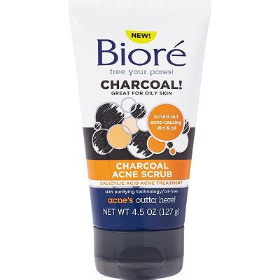Biore Scrub bior 233 charcoal acne scrub reviews