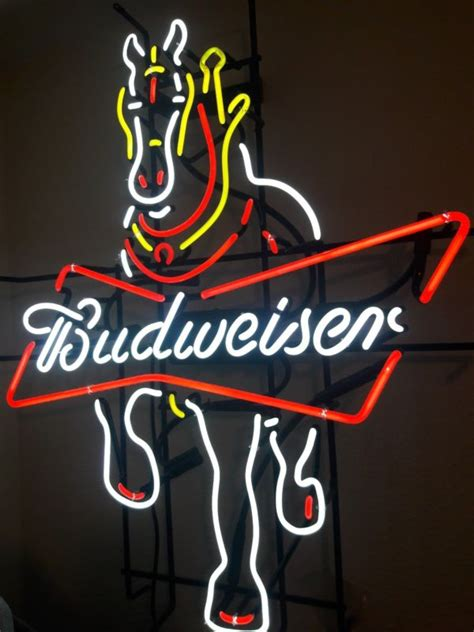 budweiser light up sign budweiser clydesdale lighted sign shop collectibles