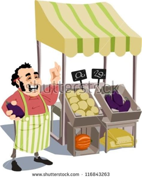Merchant Id Lookup Merchant Stands In Front Of A Market Stall Is Satisfied With The Quality Of His