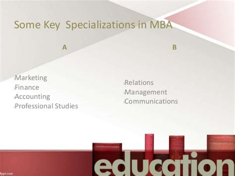 Mba Specializations List In Usa by How To Choose An Mba Specialization