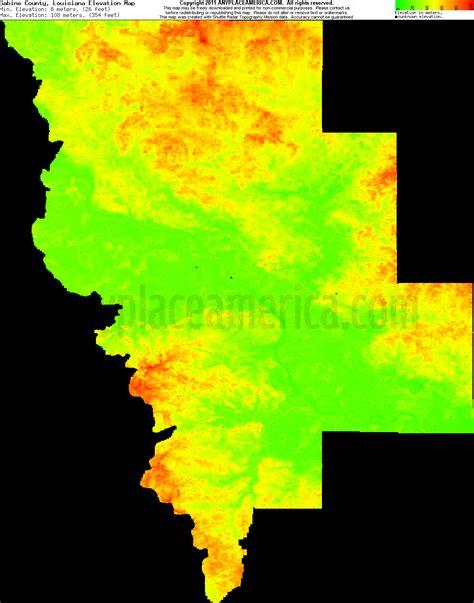 south louisiana elevation map free sabine parish louisiana topo maps elevations