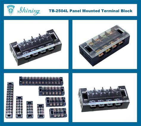 Terminal Block Tb 2504 4 Pole 25a 400v Tb 2504l Panel Mounted 600v 25 Fixed 4 Pole Terminal
