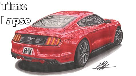 mustang drawing 2015 ford mustang drawing lapse