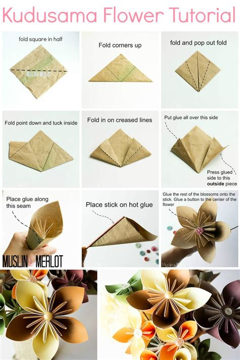 Origami Paper Flower Tutorial - best 25 paper flower ideas on tissue