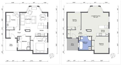 Classic Floor Plans create professional interior design drawings online