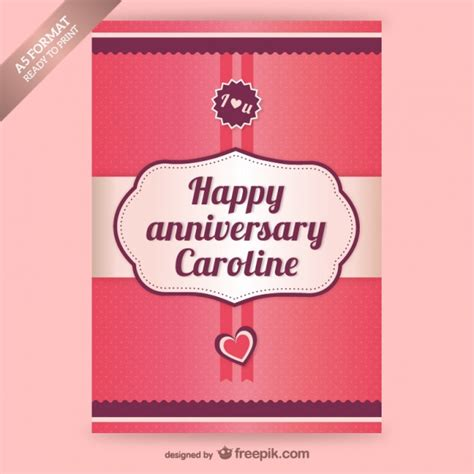 anniversary card template anniversary card template vector free