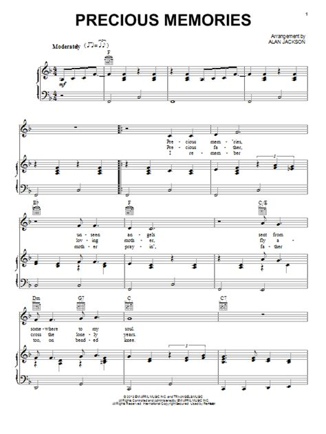 printable lyrics to precious memories hymn preview