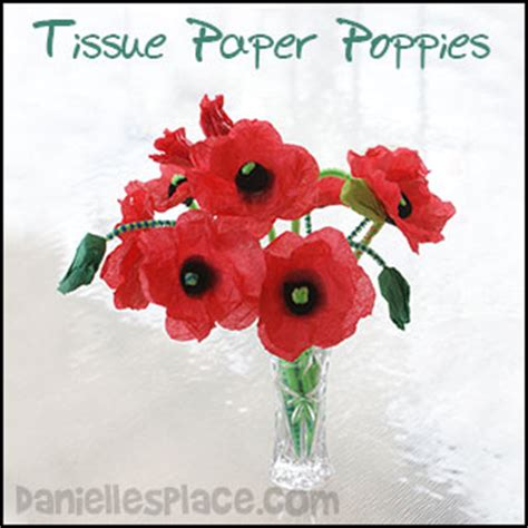 How To Make Poppies Out Of Tissue Paper - tissue paper poppy craft for from www daniellesplace