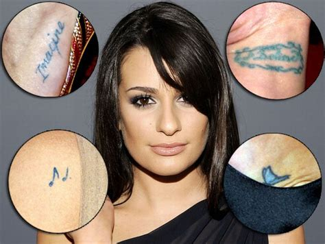 lea michele s tattoos lea michele tattoos me no