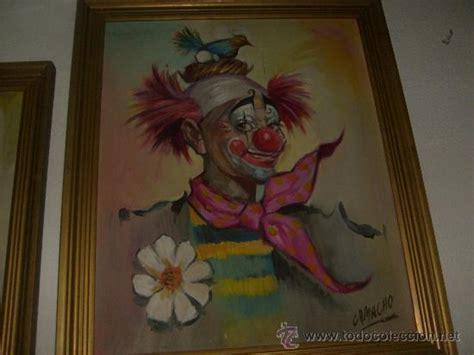 cuadros antiguos al oleo 2 cuadros antiguos de payasos oleo sobre lienzo comprar