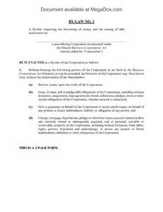 corporation bylaws template ontario borrowing bylaw of corporation forms and