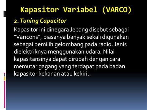 kapasitor variabel varco jenis kapasitor