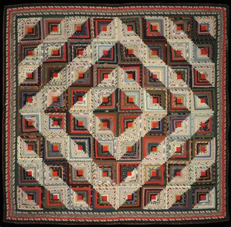 Log Cabin Patchwork History - log cabin quilt albany institute of history and