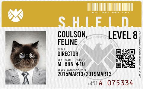 of shield id card template agents of shield id maker create your own id card or badge